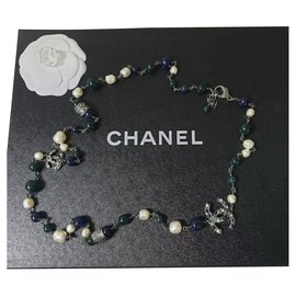 Chanel-Chanel  Pearl Logo CC  Necklace-Multiple colors