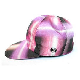 Chanel-Chanel SS17 Printed Silk Baseball Cap-Pink