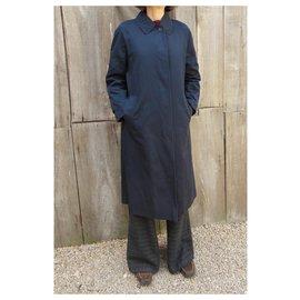 Burberry-Burberry woman raincoat vintage t 38-Navy blue