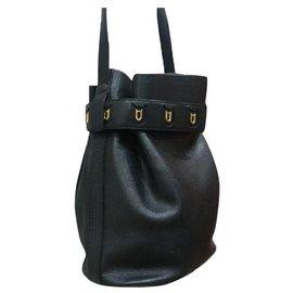 Delvaux-Delvaux bucket shoulder bag-Dark blue