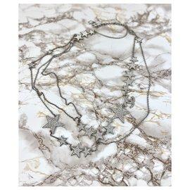 Chanel-Chanel belt comets stars silver rhinestones-Silvery