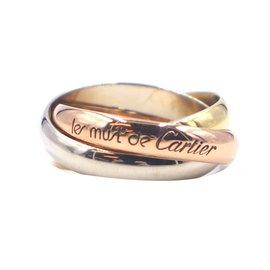 Cartier-Cartier tricolore 18k Taille de bague Trinity 52-Multicolore