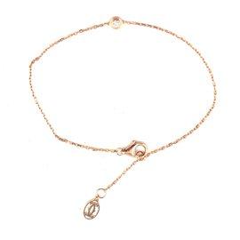 Cartier-Cartier Or Rose 18Bracelet chaîne diamant C doublé k-Doré