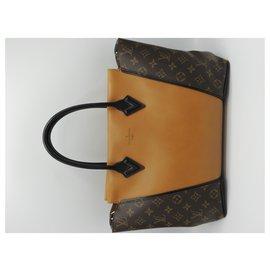 Louis Vuitton-LOUIS VUITTON Sac Tote W-Caramel