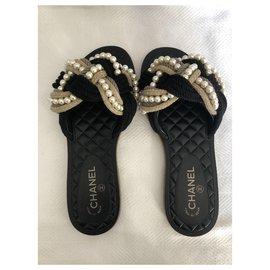 Chanel-Flat sandals-Multiple colors