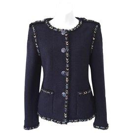 Chanel-7,5K$ lesage tweed jacket-Navy blue