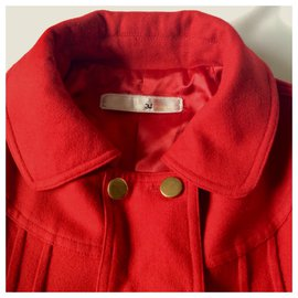 3.1 Phillip Lim-Red wool/cotton jacket-Red