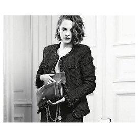 Chanel-Petite veste noire Paris Rome-Noir