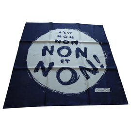 """Christian Dior-christian dior square """"IT IS NO . NO AND NO silk 65cms new box-Other"""