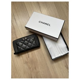 Chanel-Chanel Boy wallet black-Black