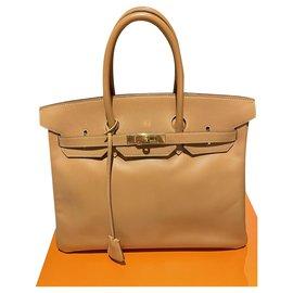 Hermès-Birkin 35-Light brown