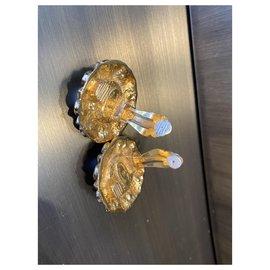 Chanel-Earrings-Beige,Golden