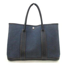 Hermès-Hermès Garden Party-Navy blue