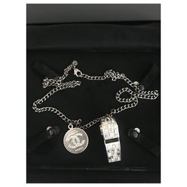 Chanel-Long necklaces-Silvery