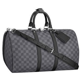 Louis Vuitton-LV Keepall Damier graphite new-Grey