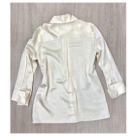 Chanel-Beautiful Chanel silk shirt-Cream