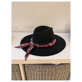 Hermès-Hats-Black,Blue,Dark red,Cream