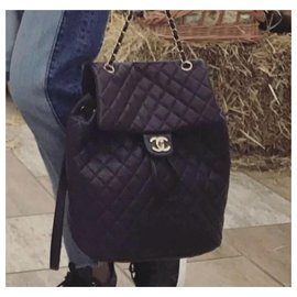 Chanel-CHANEL Urban Spirit Purple Large Backpack-Purple