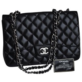 Chanel-Timeless Jumbo Bag in Black-Black