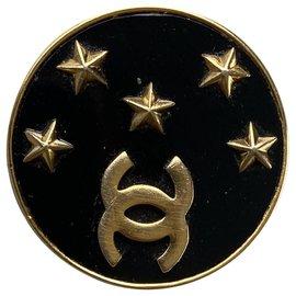 Chanel-Earrings-Black,Golden