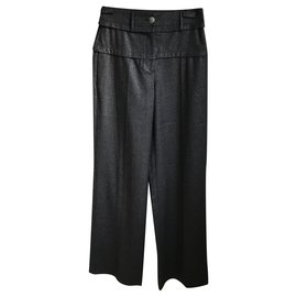 Chanel-Beautiful Chanel Pants-Dark grey