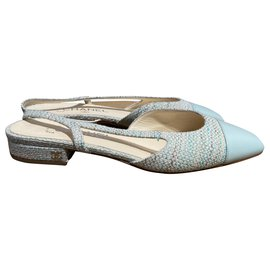 Chanel-Heels-Light green