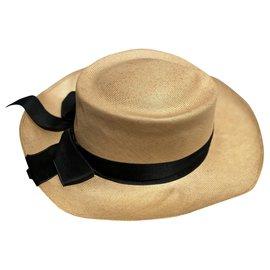 Chanel-Hats-Black,Beige