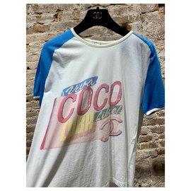 Chanel-Vintage Chanel cute t-shirt-White,Blue,Multiple colors