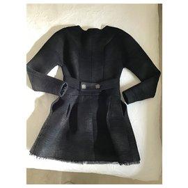 Chanel-Chanel metallic tweed coat-Metallic