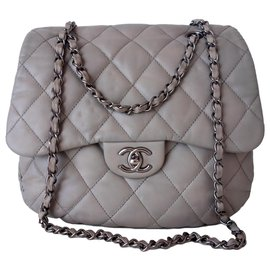 Chanel-Chanel Classic gray bag-Grey
