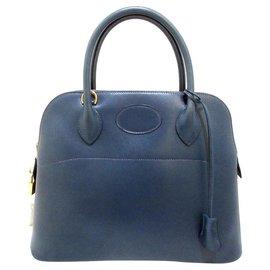 Hermès-Hermes Bolide-Navy blue