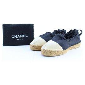 Chanel-Ballerina Strappy Tie Espadrilles-Other