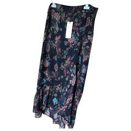 Ikks-Long floral skirt-Multiple colors,Metallic
