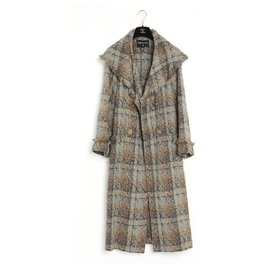 Chanel-COAT TRENCH 18C TWEED FR34/36/38-Grey