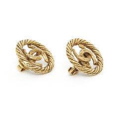 Chanel-VINTAGE CC CLIPS-Golden