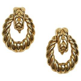 Dior-Boucles d'oreilles clip Dior Gold Rope-Doré
