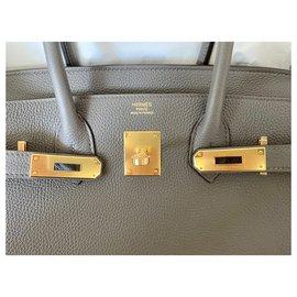 Hermès-Birkin 30 Togo GHW-Gris anthracite