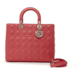 Dior-LADY DIOR LARGE PINK FLAMINGO-Rose