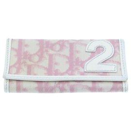 Dior-CHRISTIAN DIOR Trotter Canvas Wallet Pouch Card Key Case 4et Auth rd1831-Noir,Rose,Bleu,Autre