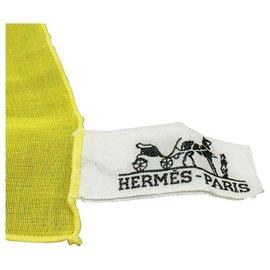 Hermès-Hermès scarf-Yellow