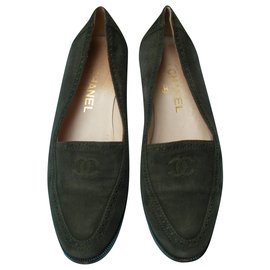 Chanel-Flats-Khaki
