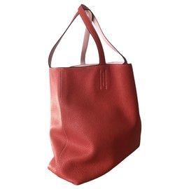 Hermès-Hermes lined Sens bag in red heart-Red