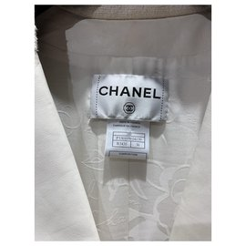 Chanel-Coats, Outerwear-Cream