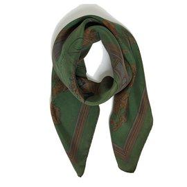 Hermès-GREEN DYE FLOWER DOCK-Dark green