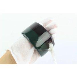 Hermès-Hermès Black Green and Multicolor Colombo 3 Extra Wide Enamel Bangle Bracelet-Multiple colors