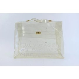 Hermès-Kelly Clear Translucent 1997 Souvenir De L'exposition-White