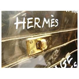 Hermès-1997 Souvenir De L'Exposition Vinyl Transparent Kelly-White