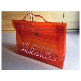 Hermès-Hermes 1998 Souvenir D'exposition Clear Orange Kelly-Orange