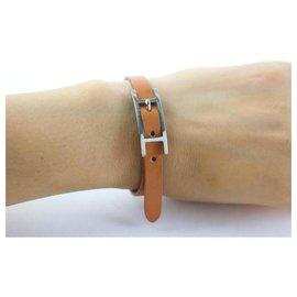 Hermès-Hapi Brown Leather Api Bracelet-Brown
