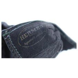 Hermès-Studded Constance H Logo Gloves-Black